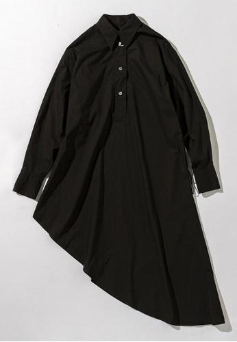 MM6 黑色 Asymmetric Hem Shirt Dress 6A7E7AA3240669GS_1