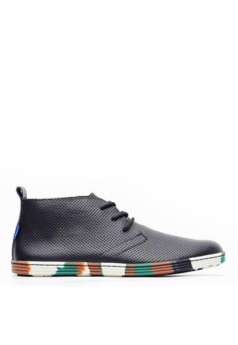 Life8 black Casual leather boots-09747-Black LI286SH0SCGPMY_1