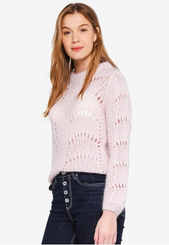 Guess pink Rita Cut Out Sweater Top 5CCD5AA63394DDGS_1