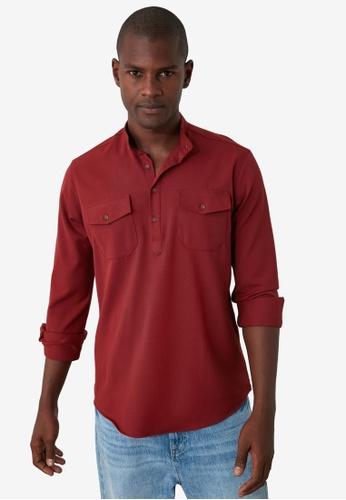 Trendyol red Half Placket Shirt 1AA13AA9D042A8GS_1