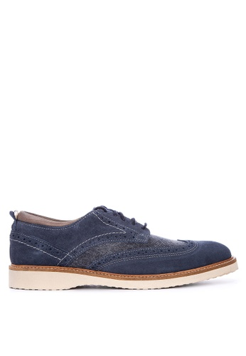 Florsheim navy Oracle Wing Tip Lace Up Formal Shoes 26318SHA84437EGS_1