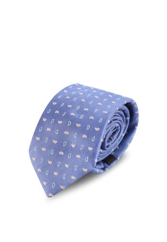 Gay Giano blue Paisley Foulard Silk Tie F5CC5ACA220535GS_1