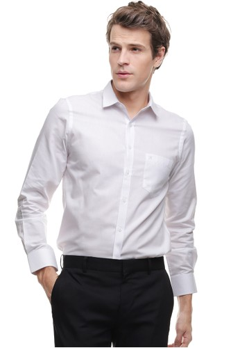 Johnwin white Johnwin - Slim Fit - Kemeja Formal - Lengan Panjang - Putih 86681AA0B8092AGS_1