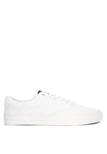 Sonnix white Goblin Q318 Laced-Up Sneakers EB44DSHEAD470CGS_1
