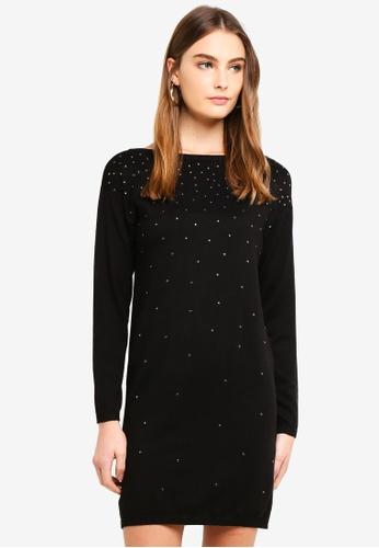 OVS black Viscose Blend Dress With Diamantes 25EE7AA14F3B32GS_1