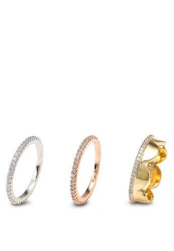 kate spade new york multi Slender Pave Band Ring Sets 9D29DAC61DE075GS_1