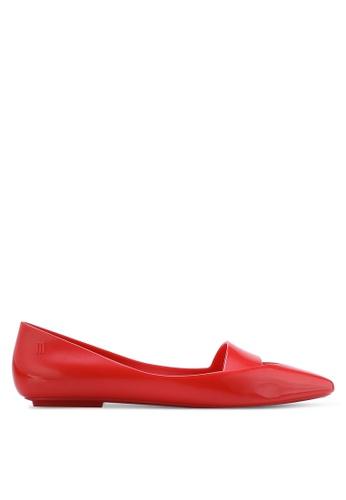 Melissa 紅色 Melissa 尖頭平底鞋 ME121SH76CPJMY_1