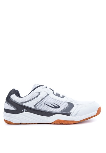 World Balance grey and white Court Ace Sneakers D2DE2SHCA3600BGS_1
