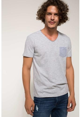 DeFacto grey Man T-Shirt 3B0BFAA456BA20GS_1