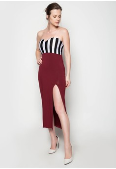 Zionne Tube Stripe Dress