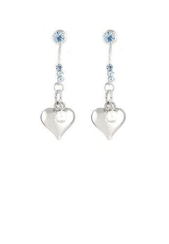 Glamorousky blue Loving Heart Earrings with Blue Austrian Element Crystals 87F80AC3C784E2GS_1
