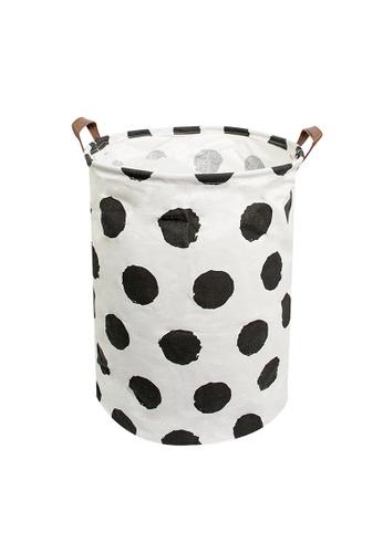 HOUZE HOUZE - Laundry Bag (Large) - Black Dots 610D6HL37680B0GS_1