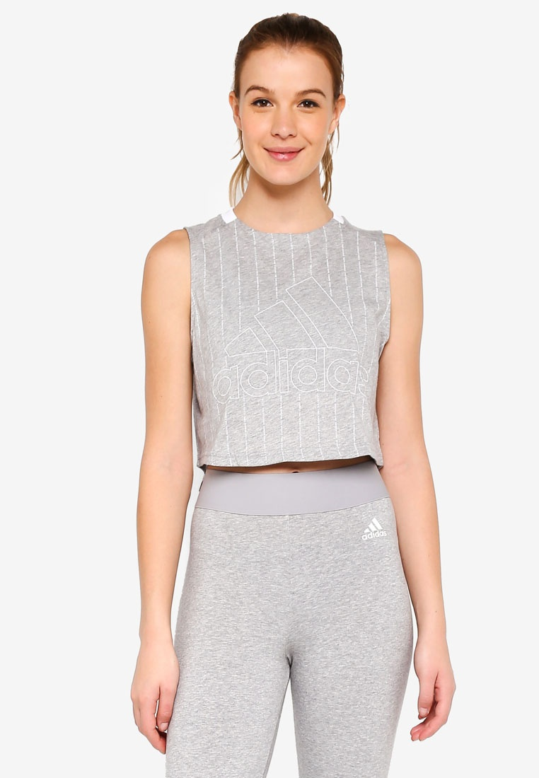 adidas w sid tank adidas Medium Heather White Grey PPqrFTnZ