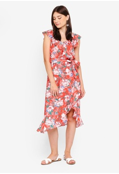 7d2c57eaa7033 60% OFF Dorothy Perkins Petite Red Ruffle Dress RM 269.00 NOW RM 107.90 Sizes  6 8 10 12