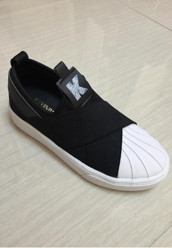 Crystal Korea Fashion black and white Korean Slip On CR681SH45XYCHK_1