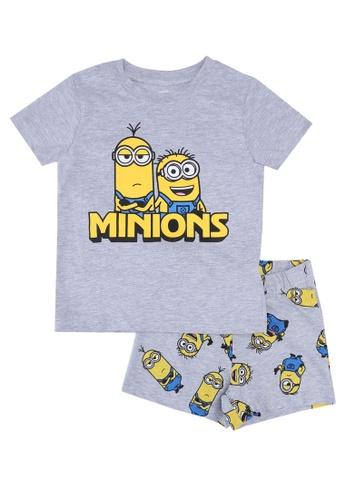 FOX Kids & Baby grey Grey T-Shirt And Printed Shorts Set 7F02DKA10F8965GS_1