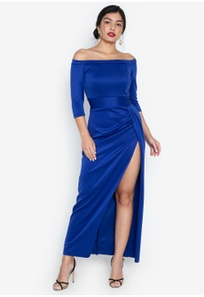 2ad6bfa8ef Geneva Off Shoulder Maxi Dress 486D1AA0C52419GS 1
