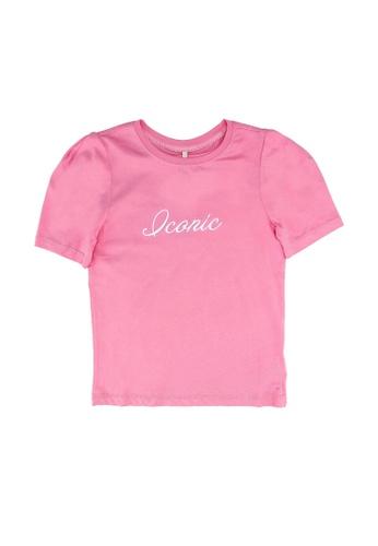 ONLY pink Ella Life Puff Tee D9CBDKA0B13536GS_1