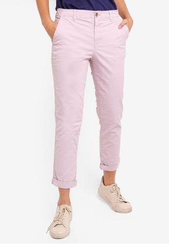 ac2345d2e5173 Buy GAP Girlfriend Khaki Long Pants Online   ZALORA Malaysia