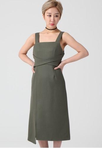 韓流時尚 不平衡編織單肩禮服 F4130,esprit高雄門市 服飾, 及膝洋裝
