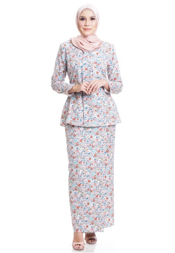 Ashura multi Daisie Cotton Kebaya 16ADCAA05B1064GS_1