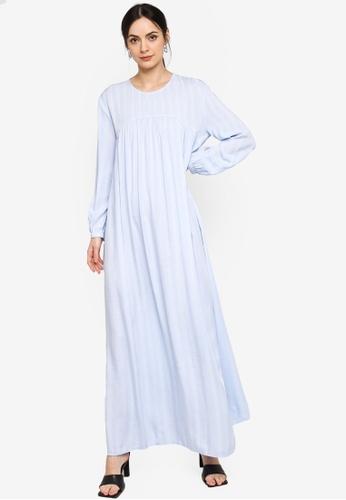 ZALIA BASICS blue Gather Maxi Dress 70D30AAB75CF0CGS_1
