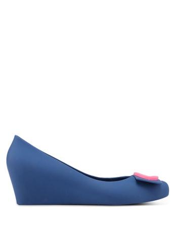 Twenty Eight Shoes blue Elegant Jelly Wedges 08D8BSHD5F571BGS_1