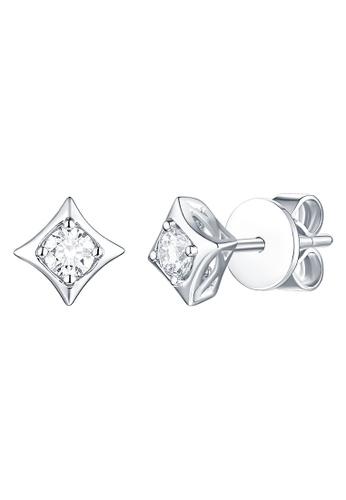 Smiling Rocks white 14K White Gold 0.21ct Lab Grown Diamond Sparkle Earrings E1BF4AC5006BC6GS_1