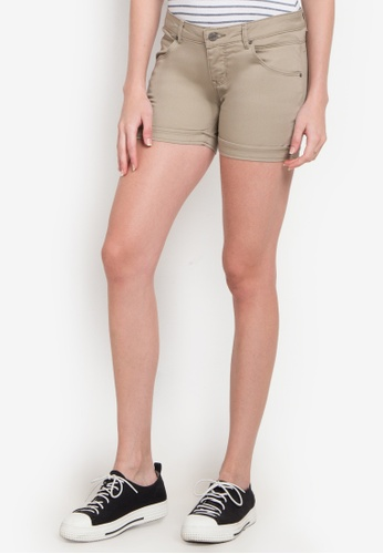 Bobson brown Skinny Tapered Left Hand Twill Shorts BO748AA0KARYPH_1