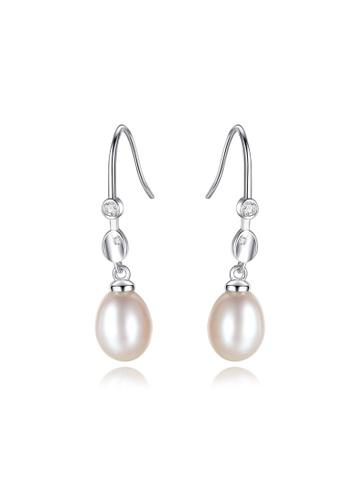 A.Excellence white Premium White Pearl Elegant Earring 6E333AC958C3D5GS_1