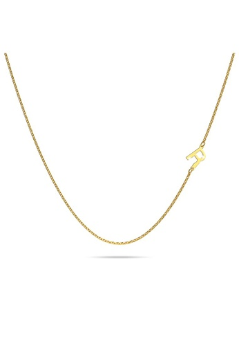 Bullion Gold gold BULLION GOLD Bold Alphabet Letter Initial Charm Necklace in Gold Tone - R 3C6CDACF38E108GS_1