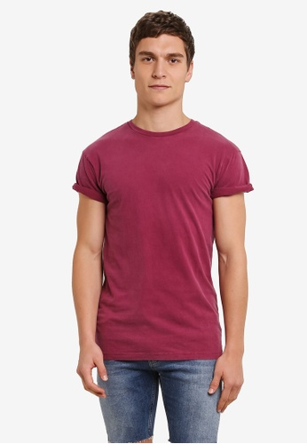 Topman red Short Sleeve Roller Tee TO413AA0S7XTMY_1