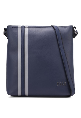 ELLE navy Parisian Sling Bag EL900AC0S254MY_1