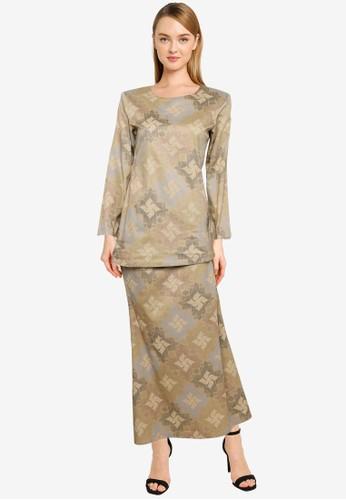 Butik Sireh Pinang brown Baju Kurung Moden Rossa 1381AAA3A47837GS_1