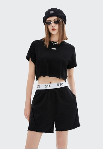 Twenty Eight Shoes Cropped Reflective Printed Short Sleeve T-shirt 6321GS21 ECB02AAAEB672EGS_1