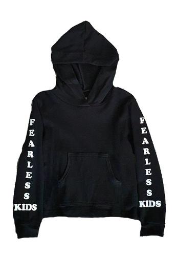 Roses & Rhinos black Fearless Kids Hoody- Unisex 80E5FKAA81F230GS_1