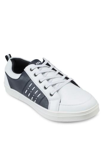 esprit分店拼色仿皮運動鞋, 鞋, 休閒鞋