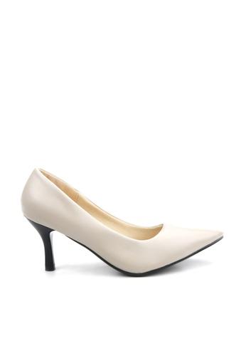 KissXXX white Ivory Pointed High Heel Pumps KI688SH2VOZ2HK_1