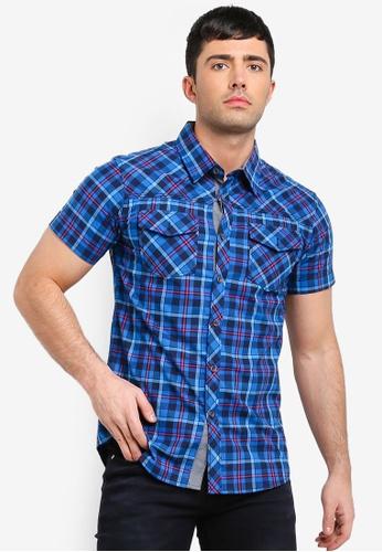 Fidelio 藍色 休閒短袖襯衫 40FD9AAC44F9F3GS_1