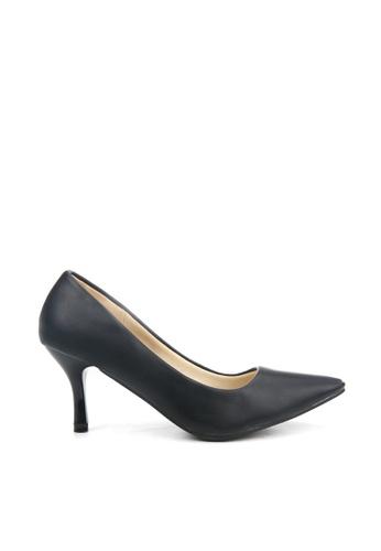 KissXXX 黑色 低反發舒適感美腿效果7CM小尖頭高跟鞋 KI603SH09MPHTW_1