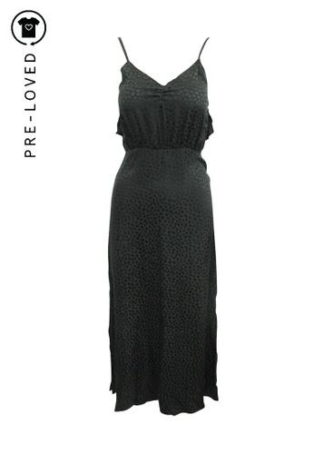 Reformation black Pre-Loved reformation Maxi Black Printed Dress DA555AA62957E2GS_1