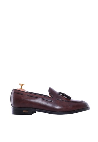 Zeve Shoes brown Zeve Shoes Tassel Loafer - Dark Brown (Hand Painted Patina) 22BE2SH38DE5DAGS_1