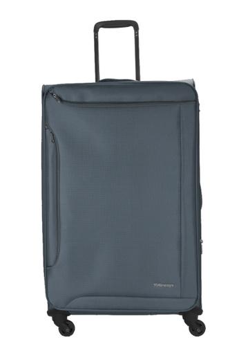 Airways grey Airways Rosolite ATS 7925 Polyester 24 inch Spinner Soft Case Luggage - Dark Grey ECEE8ACCC486ADGS_1