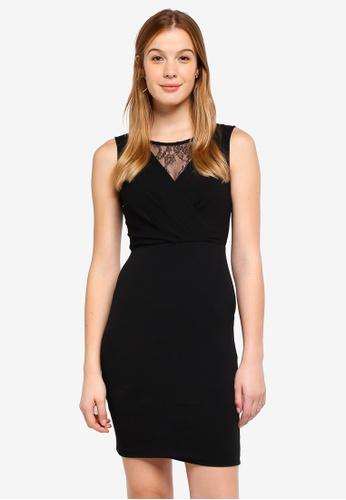 Dorothy Perkins black Petite Black Lace Pencil Dress D8C11AA14791CBGS_1