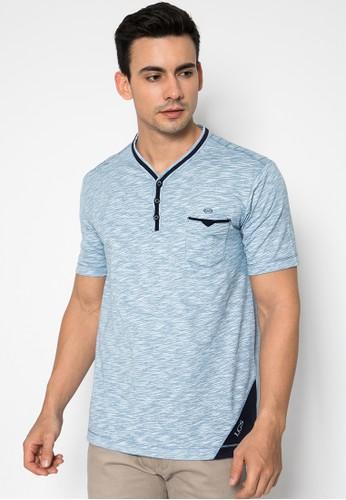 LGS blue Slim Fit - Kaos Casual - Model Kancing - Warna Biru Muda 45C00AA7EBF2CFGS_1