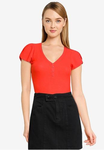 GUESS red Short Sleeve Jabin Bodysuit 4A3F4AAA6BFFFFGS_1