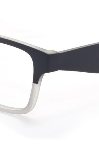 Kaca Kaca Taylor Black White Eyeglasses