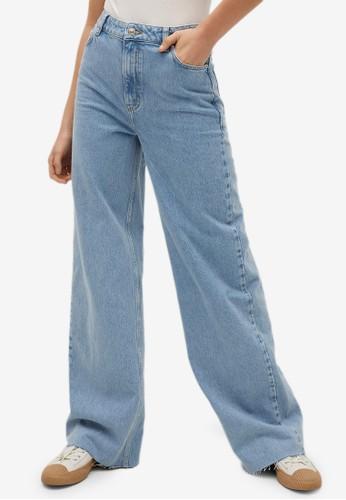 Jual Mango Wide Leg High Waist Jeans Original | ZALORA Indonesia ®