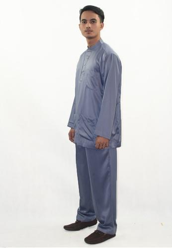 Denai Boutique grey Baju Melayu Zeid 480AEAAD958843GS_1