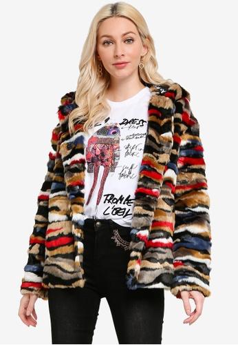 Desigual multi Multicolour Plush Short Jacket 1182AAACF15E4CGS_1